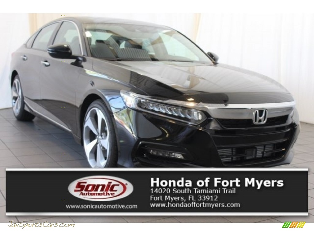 2018 Accord Touring Sedan - Crystal Black Pearl / Black photo #1