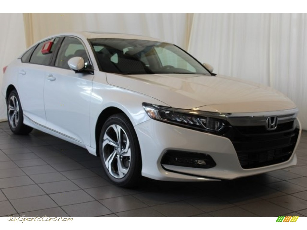 2018 Accord EX Sedan - Platinum White Pearl / Black photo #2