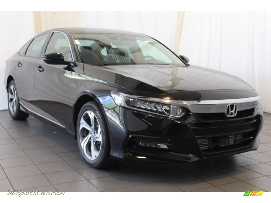 2018 Accord EX-L Sedan - Crystal Black Pearl / Black photo #2
