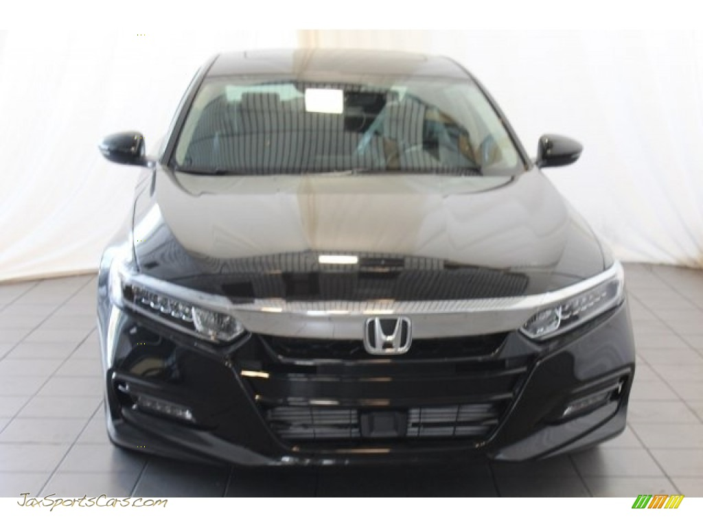 2018 Accord EX-L Sedan - Crystal Black Pearl / Black photo #4