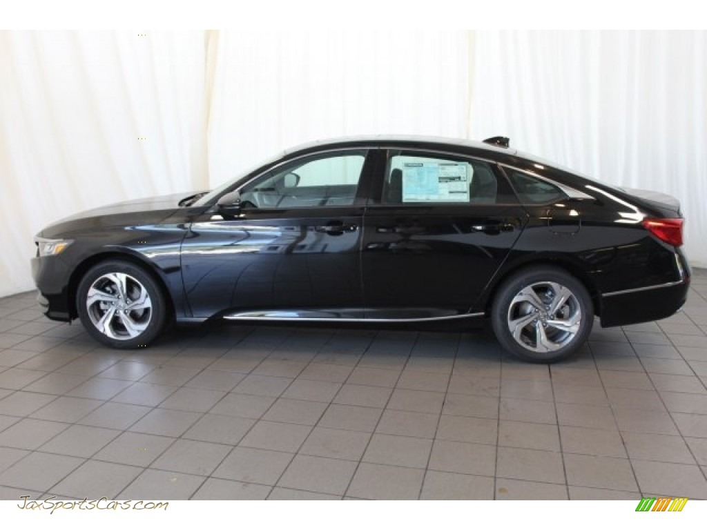 2018 Accord EX-L Sedan - Crystal Black Pearl / Black photo #5