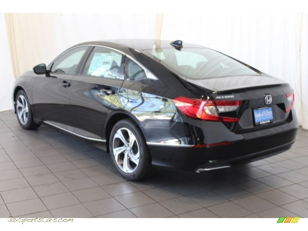2018 Accord EX-L Sedan - Crystal Black Pearl / Black photo #6