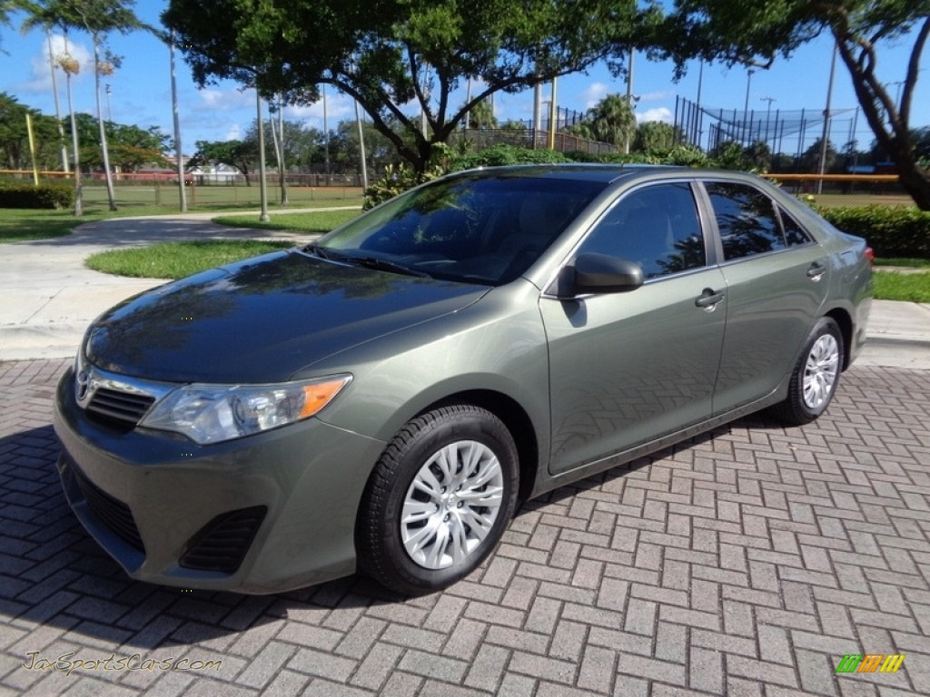 2012 Camry L - Cypress Green Pearl / Ivory photo #1