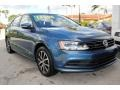 Volkswagen Jetta SE Silk Blue Metallic photo #2