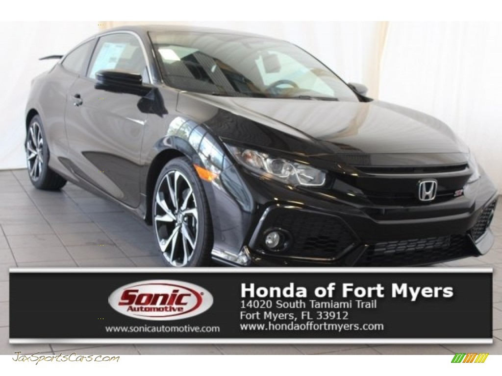Crystal Black Pearl / Black Honda Civic Si Coupe