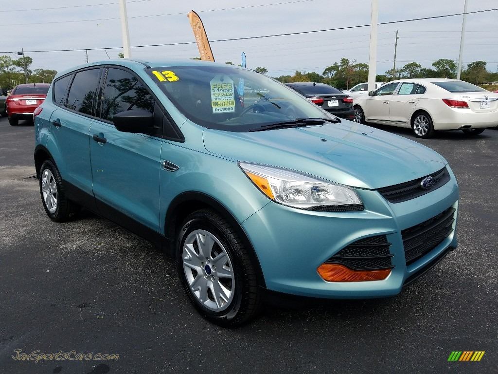 2013 Escape S - Deep Impact Blue Metallic / Charcoal Black photo #7