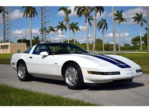 Arctic White 1992 Chevrolet Corvette Coupe