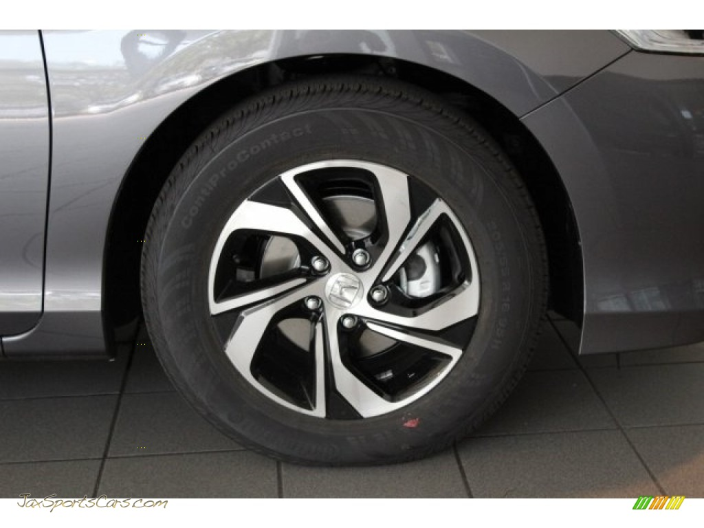 2017 Accord LX Sedan - Modern Steel Metallic / Black photo #2