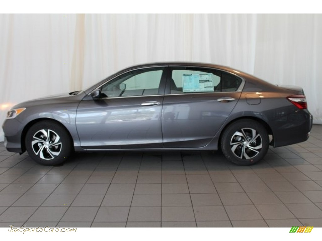 2017 Accord LX Sedan - Modern Steel Metallic / Black photo #5
