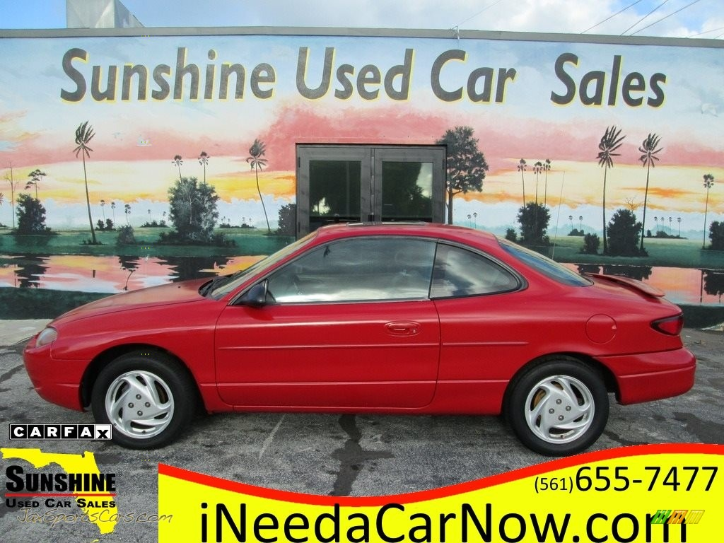 Bright Red / Medium Prairie Tan Ford Escort ZX2 Coupe