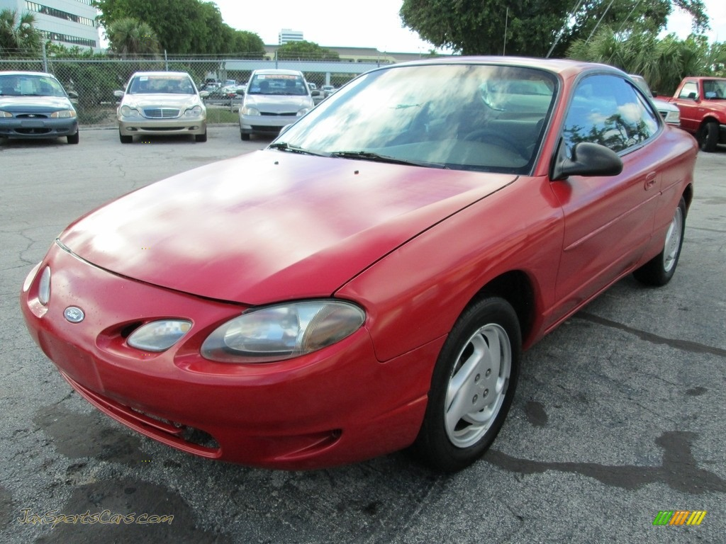 2002 Escort ZX2 Coupe - Bright Red / Medium Prairie Tan photo #8