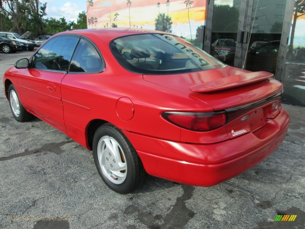 2002 Escort ZX2 Coupe - Bright Red / Medium Prairie Tan photo #18