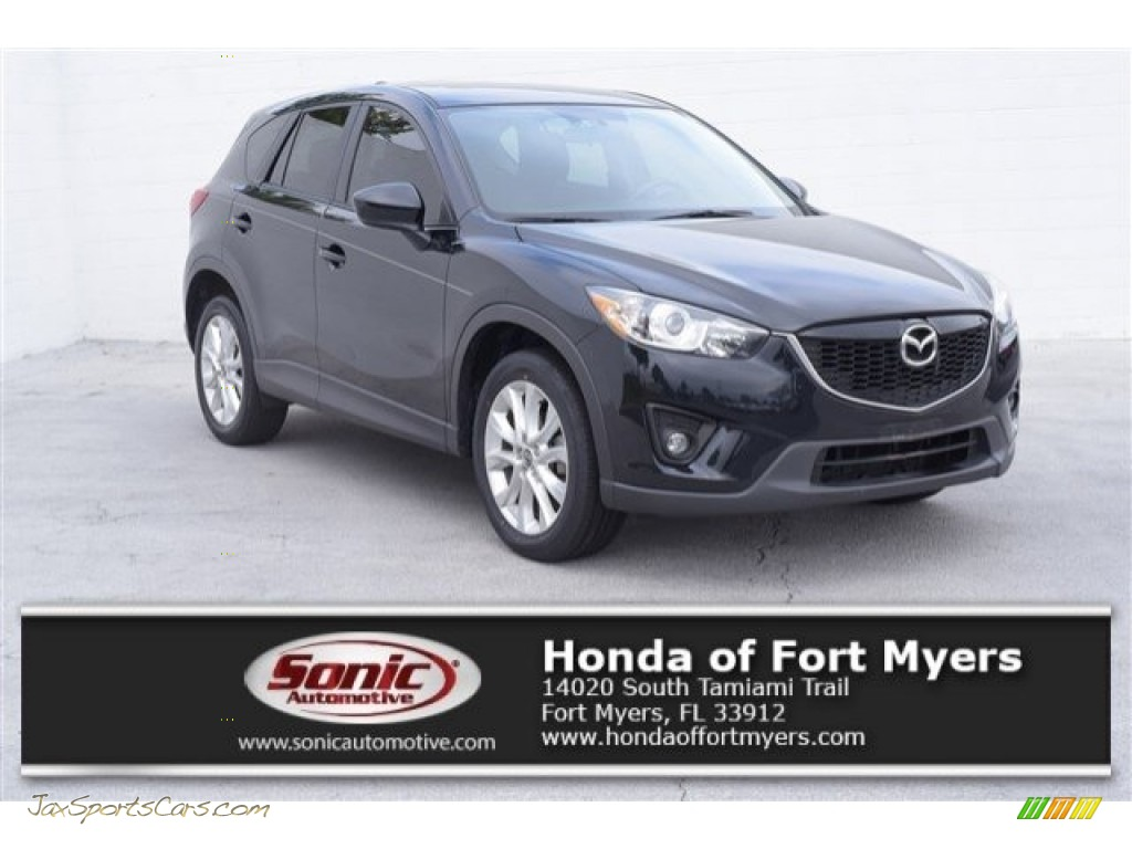 2014 CX-5 Grand Touring - Jet Black Mica / Black photo #1