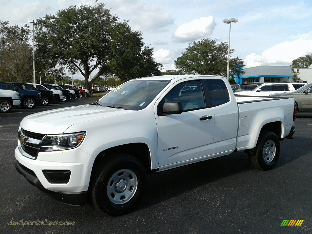 Summit White / Jet Black/Dark Ash Chevrolet Colorado WT Extended Cab