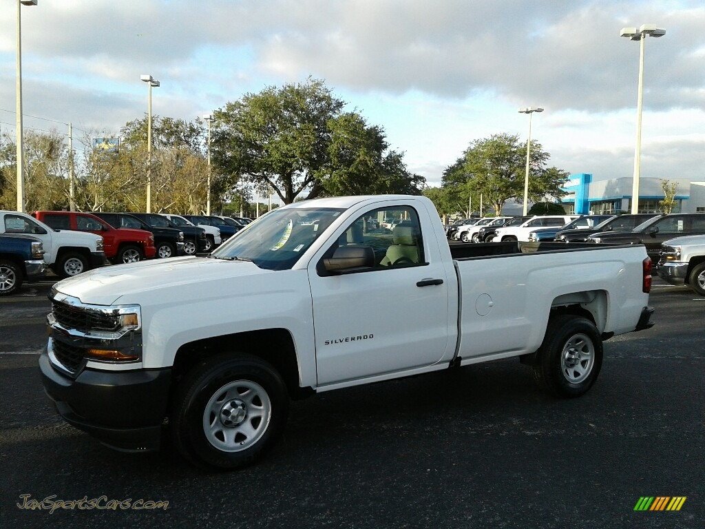 2018 Silverado 1500 WT Regular Cab - Summit White / Dark Ash/Jet Black photo #1