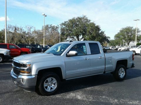 Silver Ice Metallic 2018 Chevrolet Silverado 1500 LT Double Cab