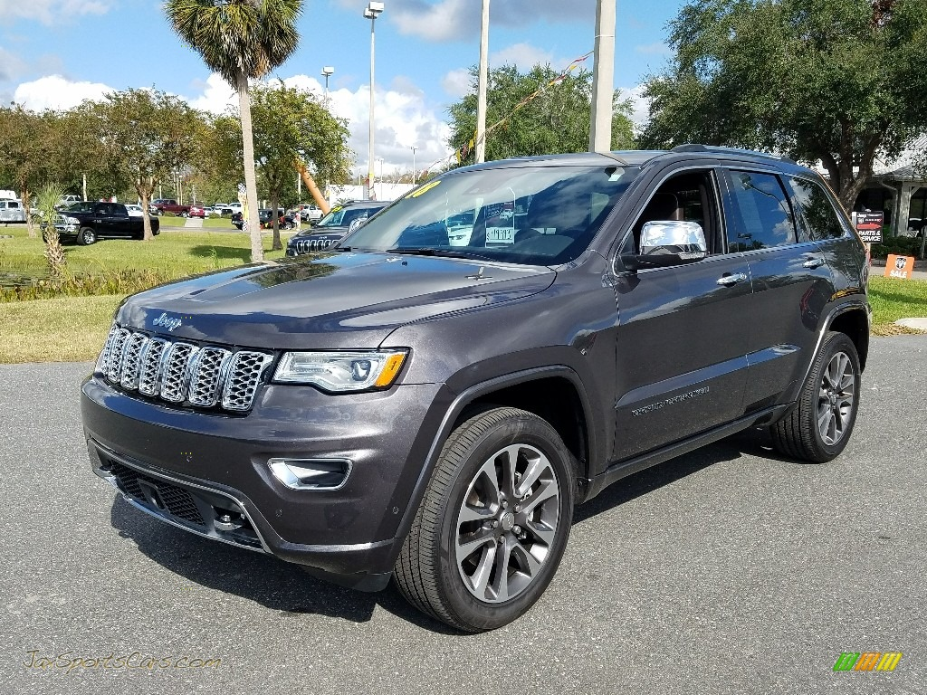 2018 Grand Cherokee Overland 4x4 - Granite Crystal Metallic / Brown photo #1