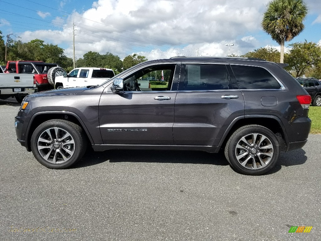 2018 Grand Cherokee Overland 4x4 - Granite Crystal Metallic / Brown photo #2