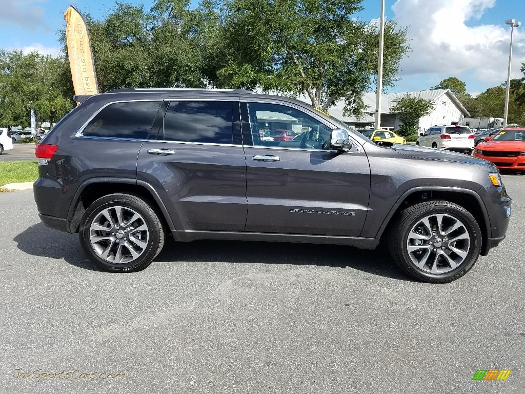 2018 Grand Cherokee Overland 4x4 - Granite Crystal Metallic / Brown photo #6