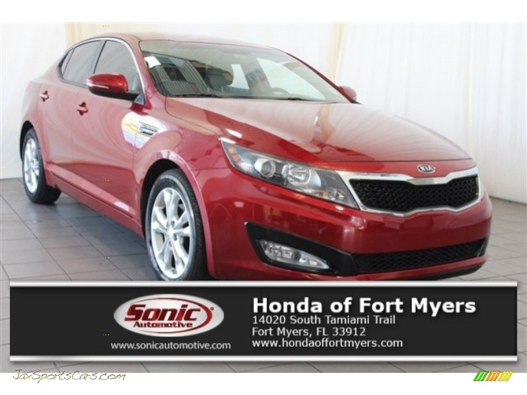 2012 Optima EX - Spicy Red / Beige photo #1