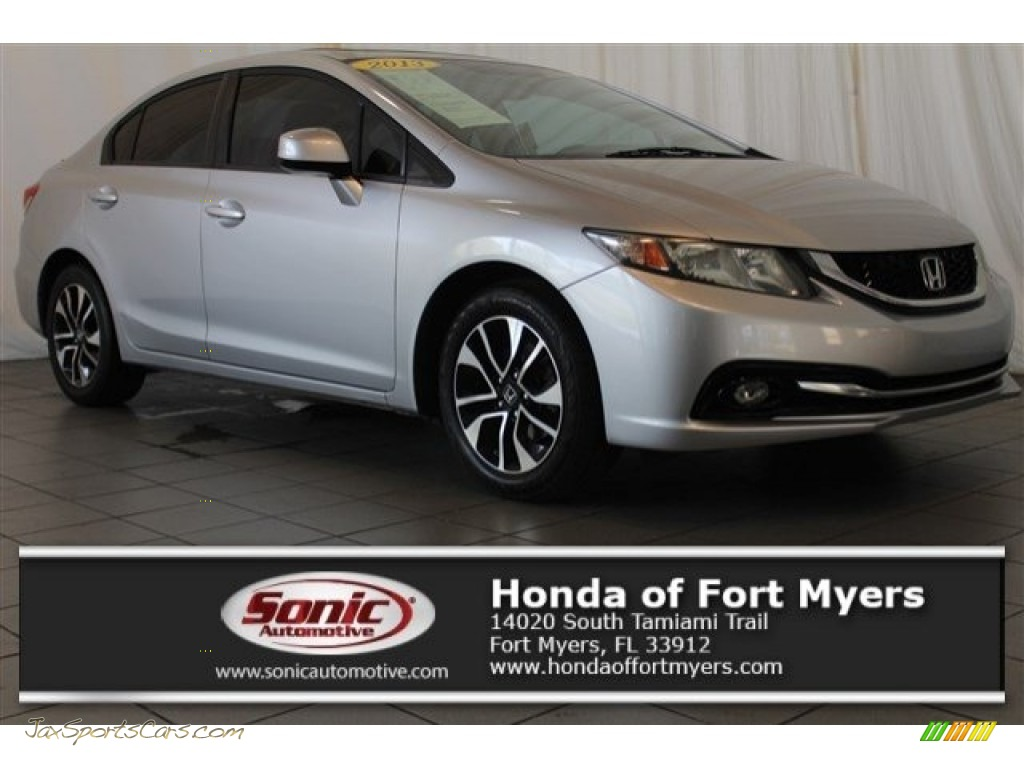 2013 Civic EX-L Sedan - Alabaster Silver Metallic / Black photo #1