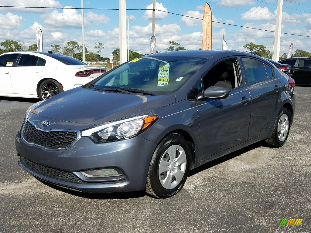 2016 Forte LX Sedan - Steel Blue / Black photo #1