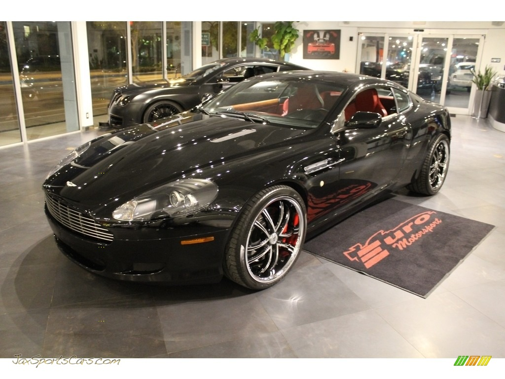 2005 DB9 Coupe - Jet Black / Red Fox photo #1