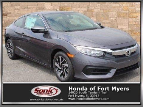 Modern Steel Metallic 2017 Honda Civic LX Coupe