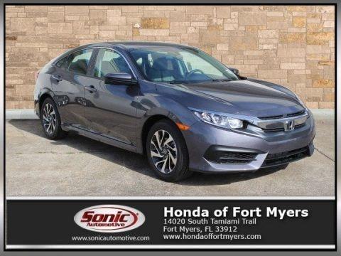 Polished Metal Metallic 2017 Honda Civic EX Sedan
