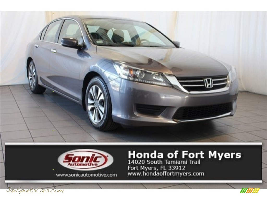 2015 Accord LX Sedan - Alabaster Silver Metallic / Gray photo #1
