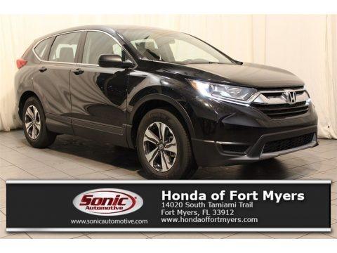 Crystal Black Pearl 2018 Honda CR-V LX