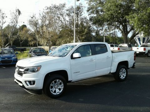 Summit White 2018 Chevrolet Colorado LT Crew Cab