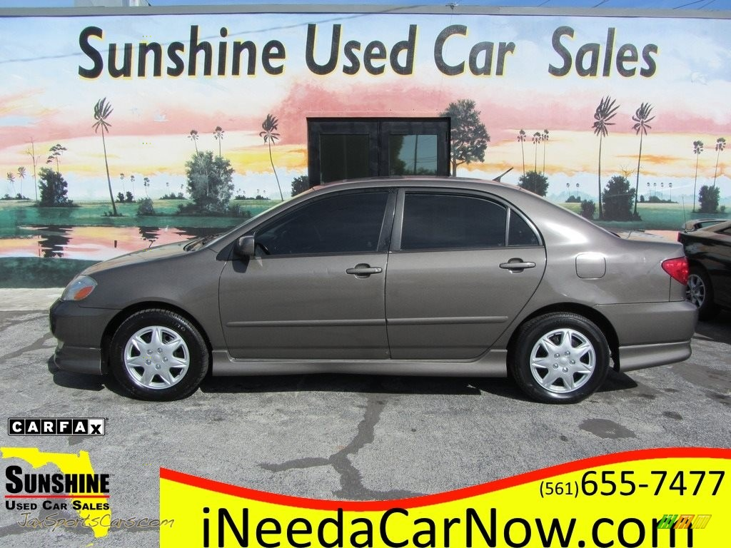 2003 Corolla S - Charcoal Gray Metallic / Black photo #1