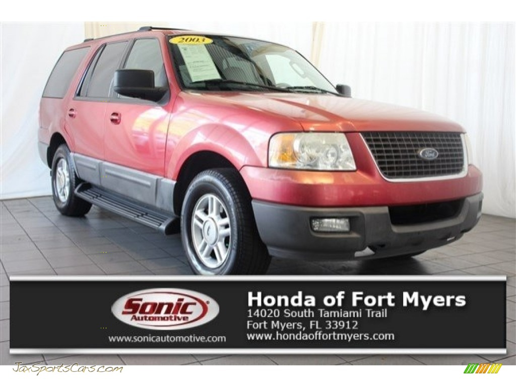 2003 Expedition XLT - Laser Red Tinted Metallic / Flint Grey photo #1