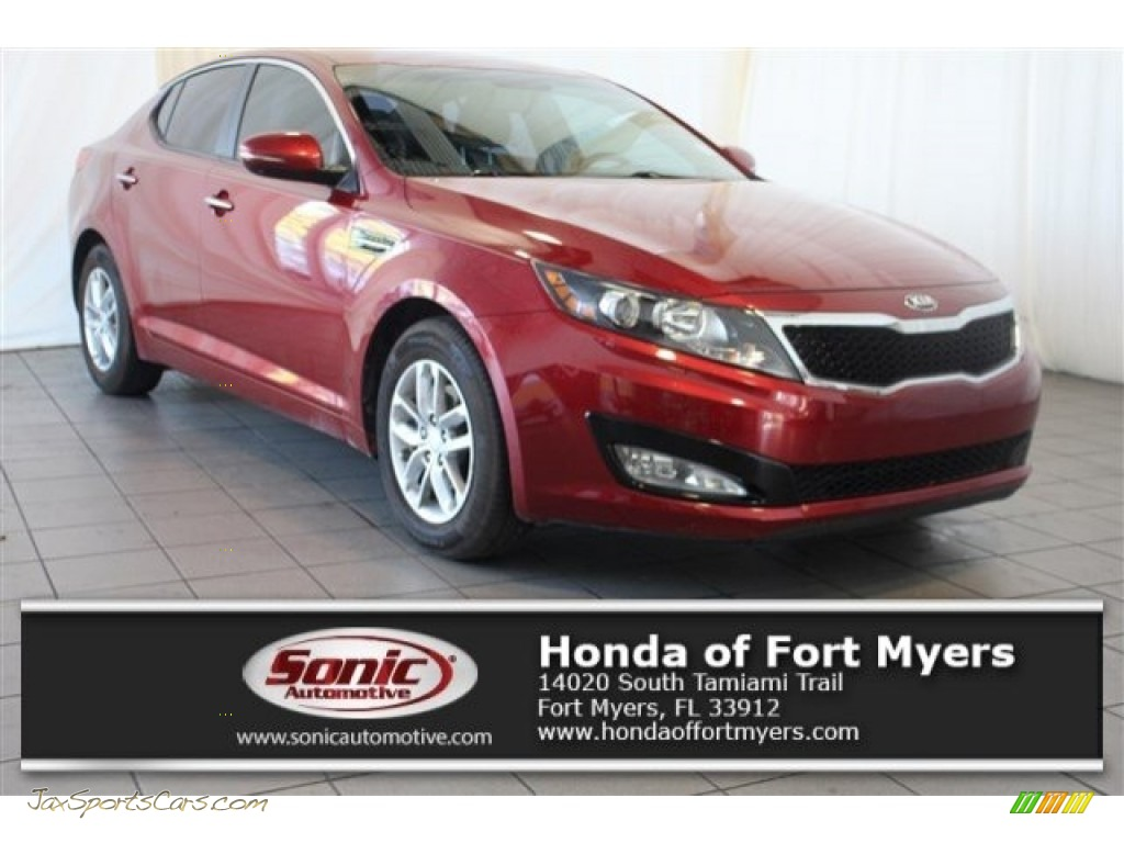 Remington Red / Beige Kia Optima LX