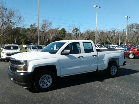 Summit White 2018 Chevrolet Silverado 1500 LS Double Cab 4x4