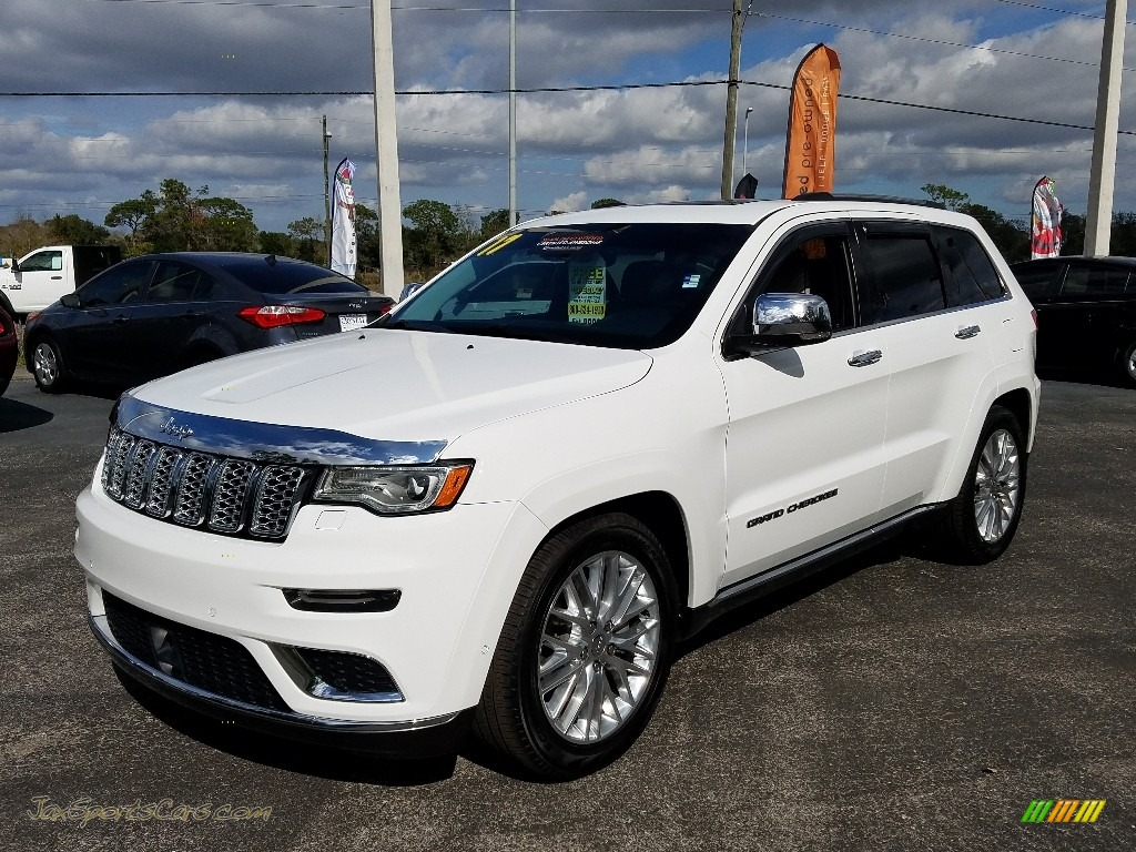 2017 Grand Cherokee Summit 4x4 - Bright White / Indigo/Ski Gray photo #1