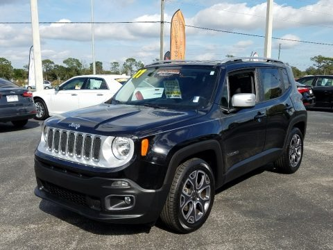 Black 2017 Jeep Renegade Limited
