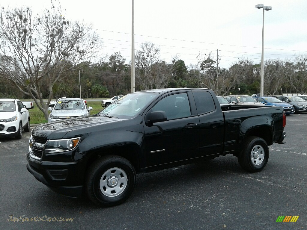 2018 Colorado WT Extended Cab - Black / Jet Black/Dark Ash photo #1