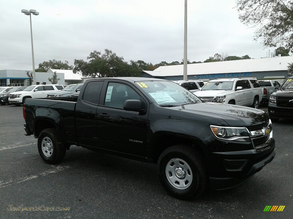 2018 Colorado WT Extended Cab - Black / Jet Black/Dark Ash photo #7