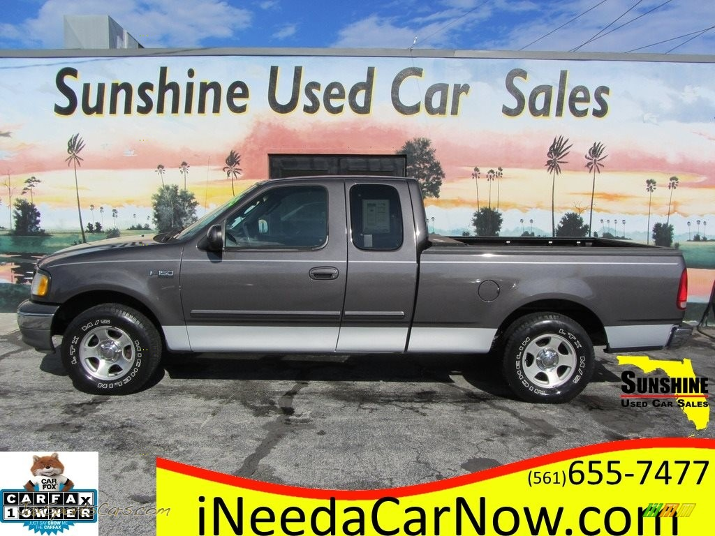 2002 F150 XLT SuperCab - Dark Shadow Grey Metallic / Medium Graphite photo #1