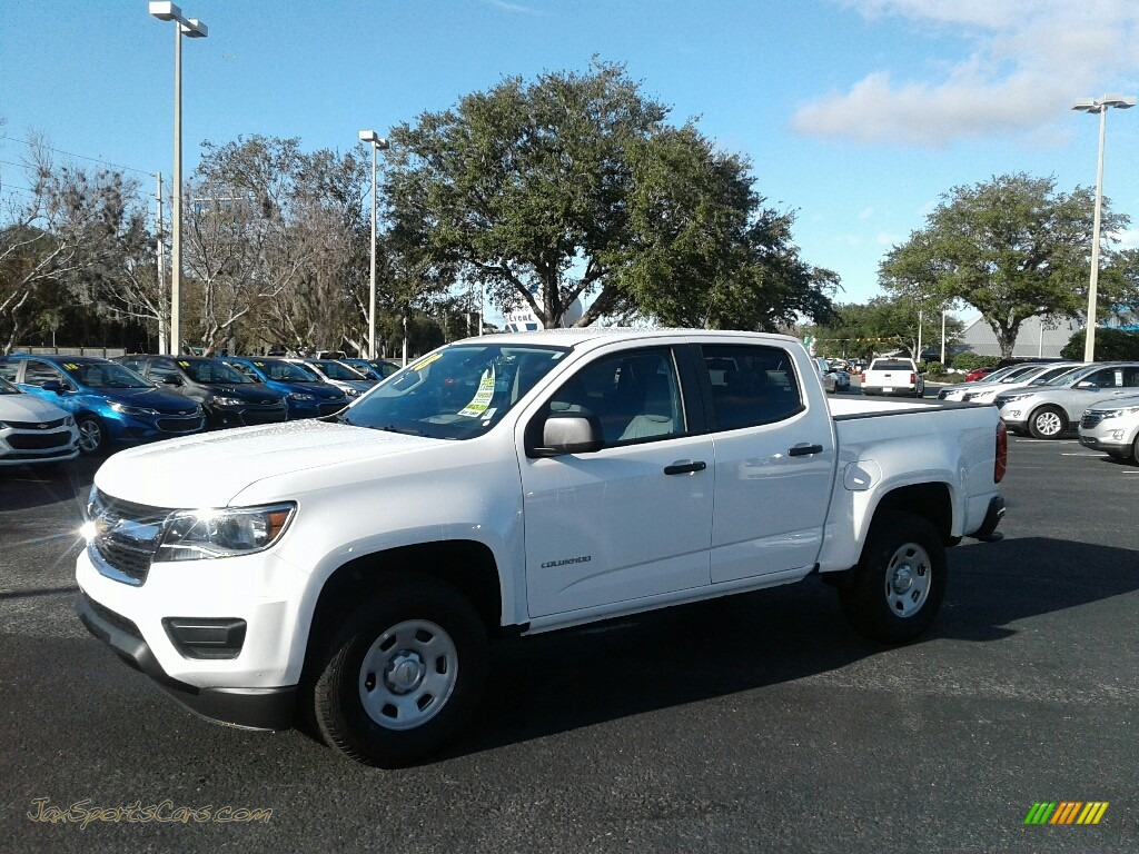 Summit White / Jet Black/Dark Ash Chevrolet Colorado WT Crew Cab
