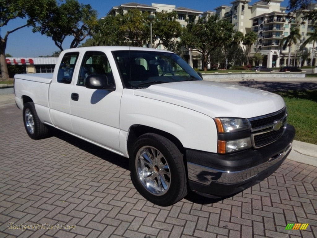 2007 Silverado 1500 Classic LS Extended Cab - Summit White / Dark Charcoal photo #1