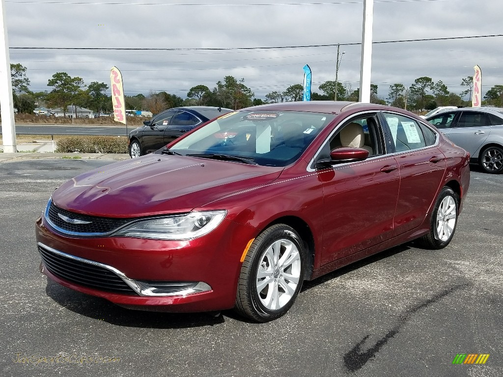 Velvet Red Pearl / Black/Linen Chrysler 200 Limited Platinum