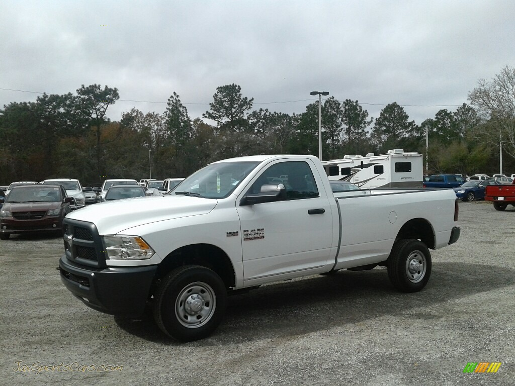 2018 2500 Tradesman Regular Cab 4x4 - Bright White / Black/Diesel Gray photo #1