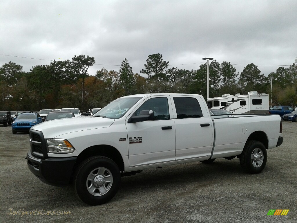 2018 3500 Tradesman Crew Cab 4x4 - Bright White / Black/Diesel Gray photo #1