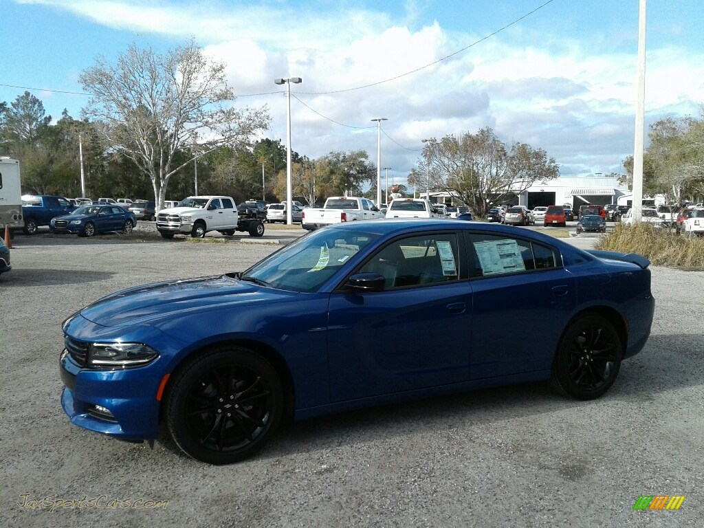 2018 Charger SXT Plus - IndiGo Blue / Black photo #1
