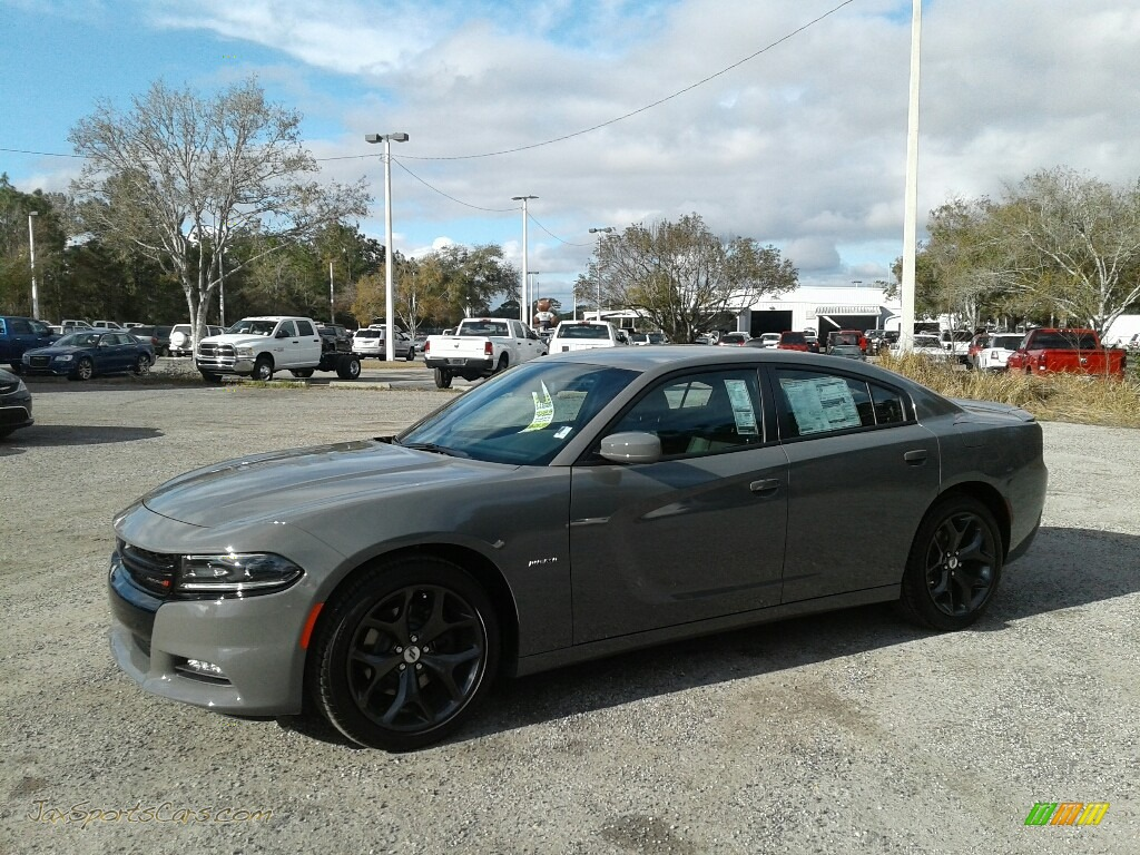 2018 Charger R/T - Destroyer Gray / Black photo #1