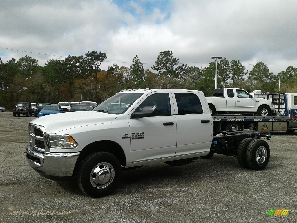 Bright White / Black/Diesel Gray Ram 3500 Tradesman Crew Cab 4x4 Chassis