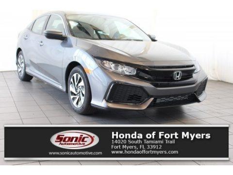 Modern Steel Metallic 2018 Honda Civic LX Hatchback